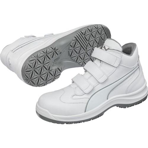 Schuh Puma Absolute Mid hoch Gr. 36 weiß, Klettverschluß, EN 345S2